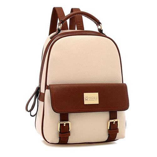 Preppy Style Trendy Backpack Bags PU Leather Travel Casual Bags Small Size  Designer Grils Backpack Large Capacity for ZXQ00092 621d281239