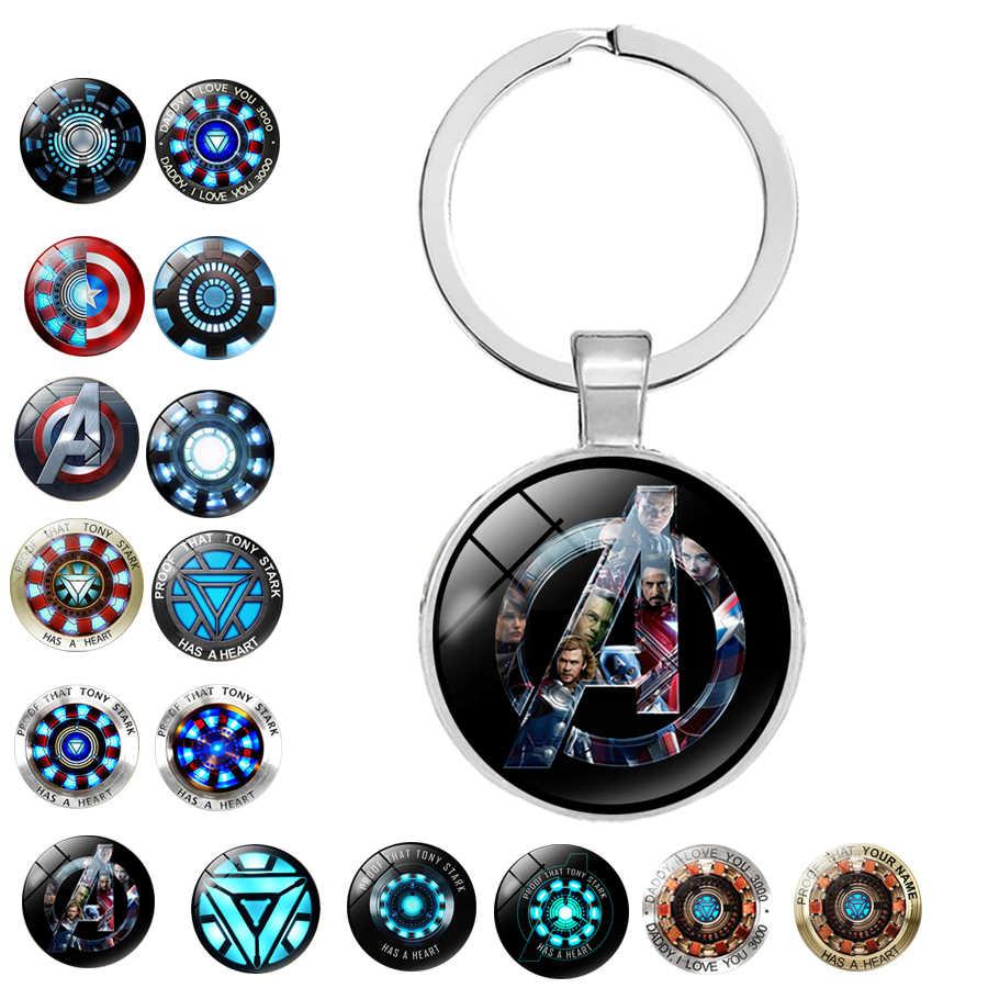 Filme Colar de Tony Stark Homem De Ferro Arco Reator 15 estilos chaveiro Pingente Avengers Age of Ultron dr who chaveiro de prata mens