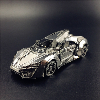 MMZ MODEL NANYUAN 3D Metal model kit Hypersport Racing Car Assembly Model DIY 3D Laser Cut Model puzzle toys for adult
