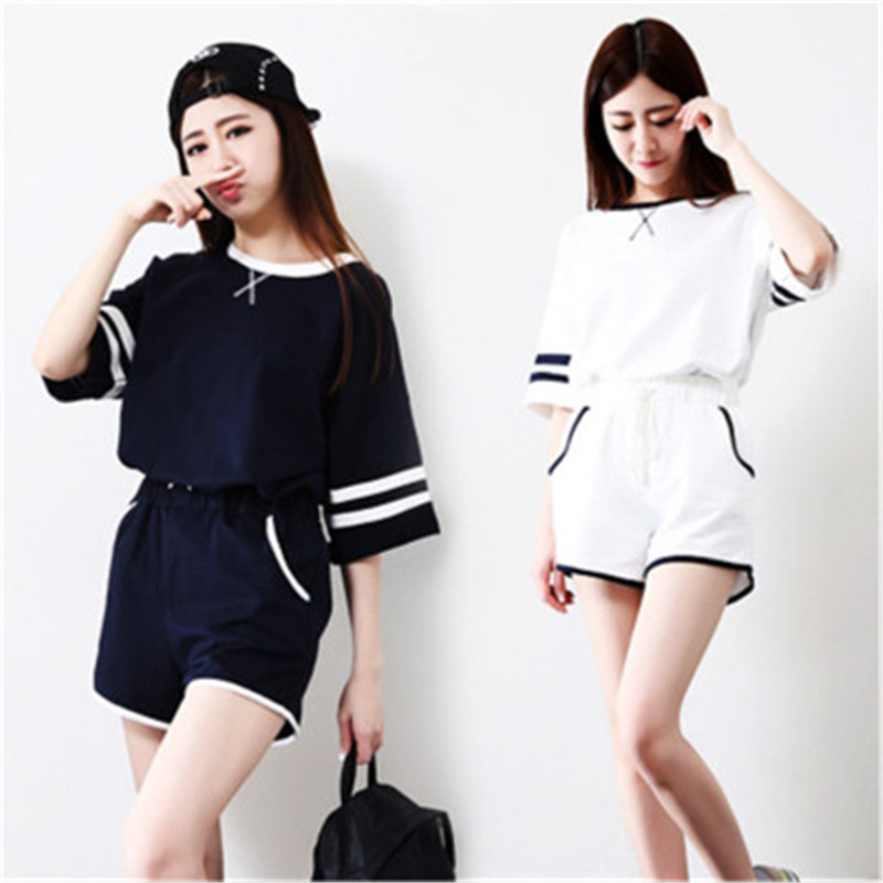 Foply women pajama sets Patchwork New Summer short sleeves s