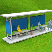 1:87 HO Scale Gauge Building Model Train Railway Layout Shelter Station Bus Stop DIY Architectural Sand Table Model Kit(China)