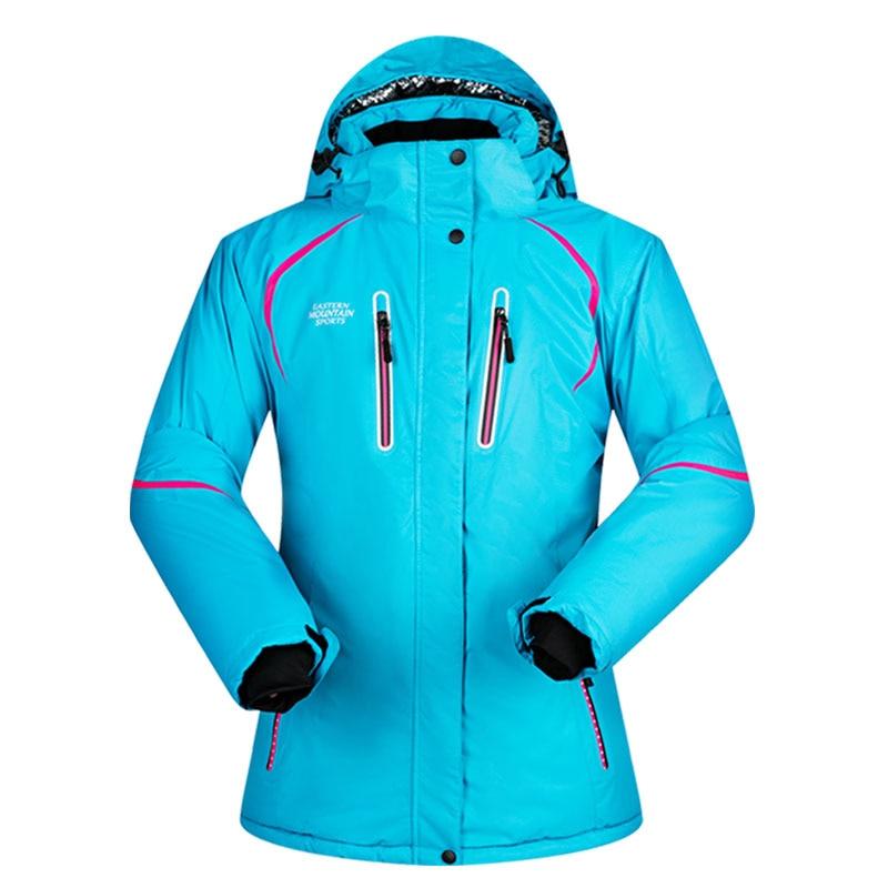 Hot sale snow jackets women ski jacket outdoor single double female skiing coat windproof thermal women's ski snowboard jacket цена и фото