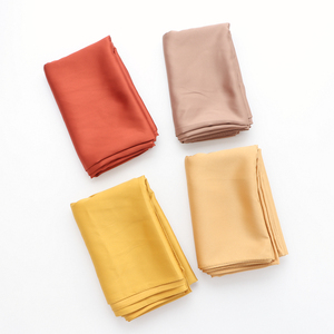 Image 5 - One piece solid plain shinny hijab scarf islam shawl head wraps soft silk feeling long muslim hijab malaysia satin plain hijabs
