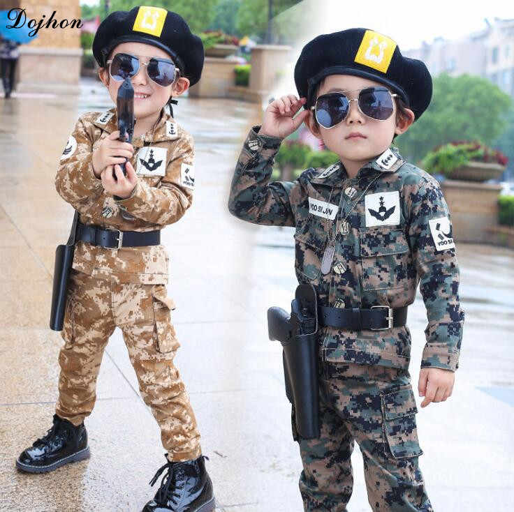 Детский спортивный костюм для мальчиков, армейская форма, камуфляжные куртки, костюм для мальчиков и девочек, корейский весенний комплект детской одежды, детская одежда