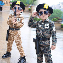 Kids Boy Tracksuit Soldiers Army Uniform Camouflage Jackets Suit for Boys Girls Korea Spring Kids Clothing Set Children Clothes(China)