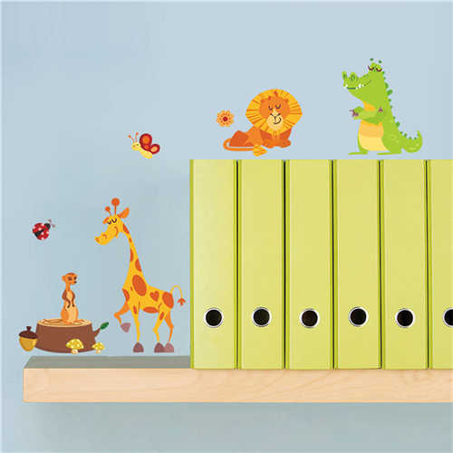 Safari Nursery Rooms Baby Poster Jungle Adventure Monkey Animals Wall Stickers For Kids Roomswall Decals Wallpaper Home Decor