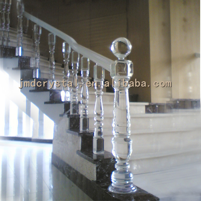 Luxury Crystal Glass Stairs Railings Column Staircase Designs | Stairs Railing Designs In Steel With Glass | Single Wall | Interior | Eye Catching | Steel Main Gate | Contemporary