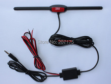 Hot !!! Car Analog TV Antenna with DC 3.5 Connector, Booster Amplifier for Car DVD Player Radio GPS TV Aerial, Free shipping