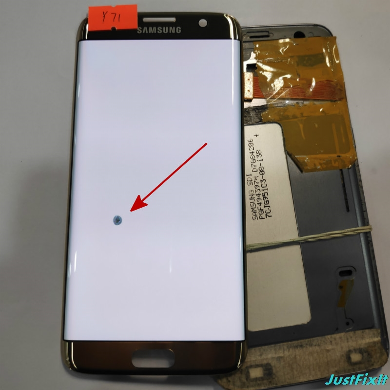 NO y71 Original Super AMOLED For Samsung Galaxy S7 Edge G935F Defect Lcd Display With Touch
