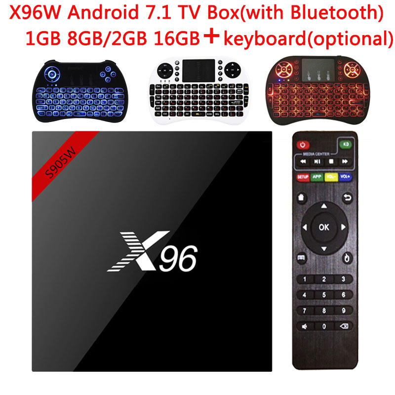 X96 X96W Smart TV Box Android 7.1 Bluetooth 1G/8G 2G/16G Amlogic S905W 2.4GHz WiFiHD Quad Core 4K Media Player Set top Box