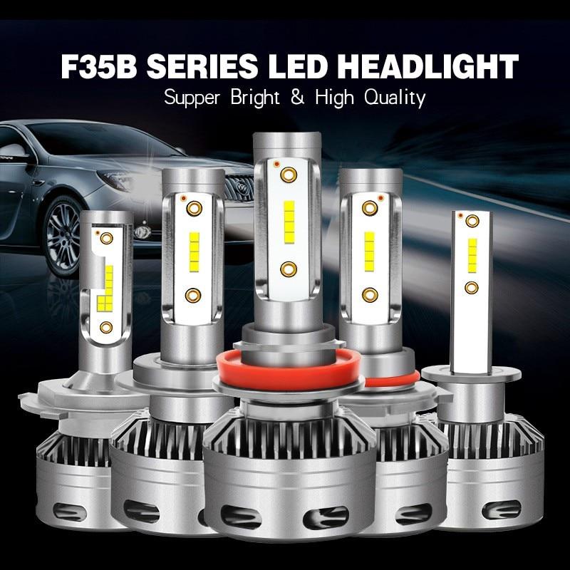 Hlxg 2X 3000K H4 LED H7 HIR2 HB4 H1 Auto S2 Car Headlight Bulbs 72W 8000LM Car Styling 6500K 4300K 8000K Led Automotivo