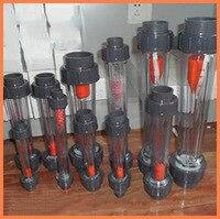 LZB-50S ingenio Rotámetro 1-10m3/h rango de Flujo medidor de flujo de agua de plástico tubo corto, LZB50S Herramientas Medidores de Flujo de plomería