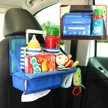 Foldable Car Backseat Storage Bag For Kids, Child Dining Table