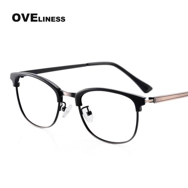 Fashion Women Glasses Frame Men Eyeglasses Frame Vintage Round Clear ...