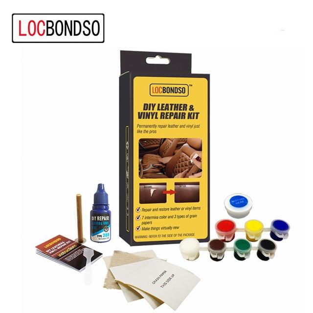 LocBondso 1 Set DIY Sofa Auto Car Seat Leather Upholstery Hole Burns No Heat Liquid Vinyl