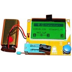 1 pcs ESR-T4M328 Digital Transistor Tester Diode Triode Capacitância ESR Medidor Para MOS/PNP/NPN LCR 12864 LCD tela