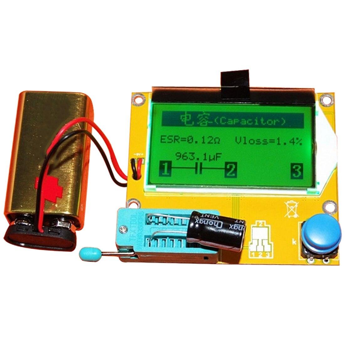LCR Digital M328 V2.68 ESR-T4 diodo Triode capacitancia MOS/PNP/NPN LCR 12864 pantalla LCD probador de ESR meter Transistor prueba