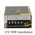 Alta Calidad AC110V 220 V para DC 12 V 50 W Voltaje para el Transformador Controlador del Adaptador de fuente de Alimentación del Interruptor para La Luz LED tira