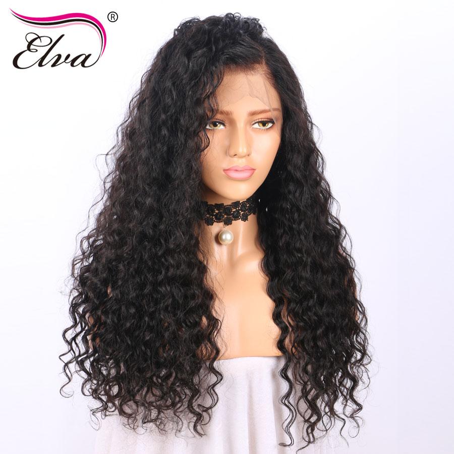 ELVA ВОЛОС 150% плотность человеческих волос Боб парики бразильский Реми волосы прямые короткие кружевные спереди парик предварительно сорвал...