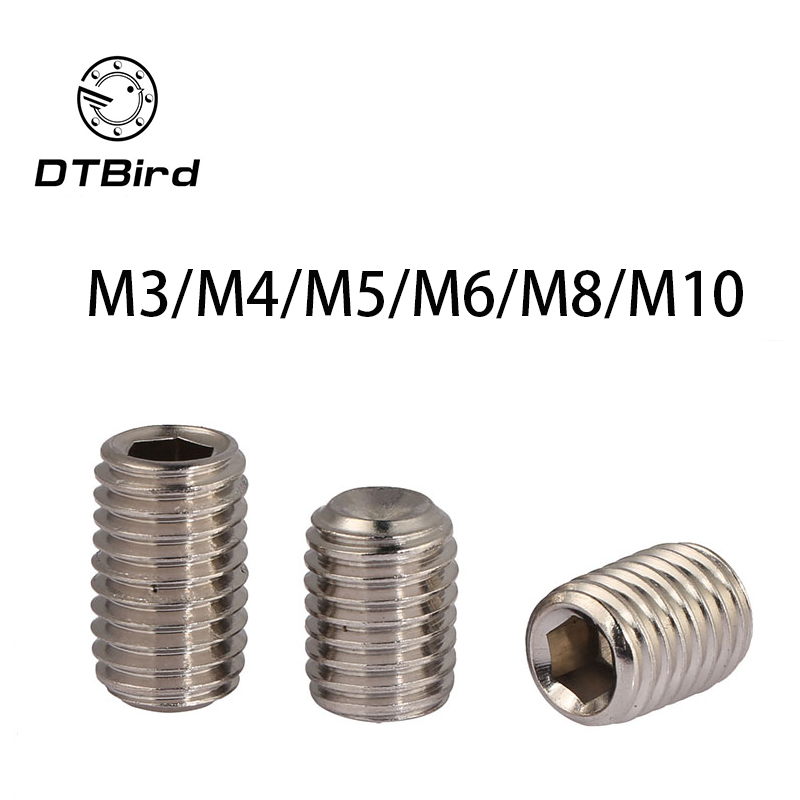 DIN916 316 stainless steel concave set screws hex socket Chimi M3 M4 M5 M6 M8 M10 screw headless Top wire machine 2017 free shipping iso7380 304 stainless steel round head screw m3 m4 m5 m6 screws hex socket screw three combination 2018 hot