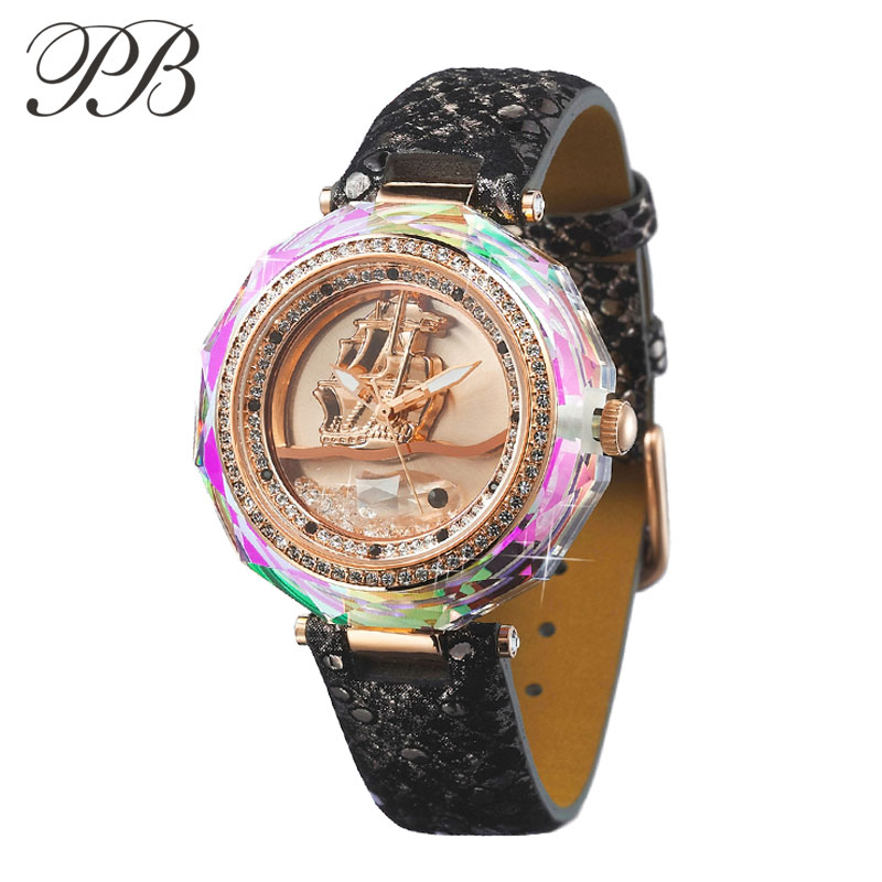 PB butterfly princess fashion table trend fashion style font b watch b font flow sand crystal