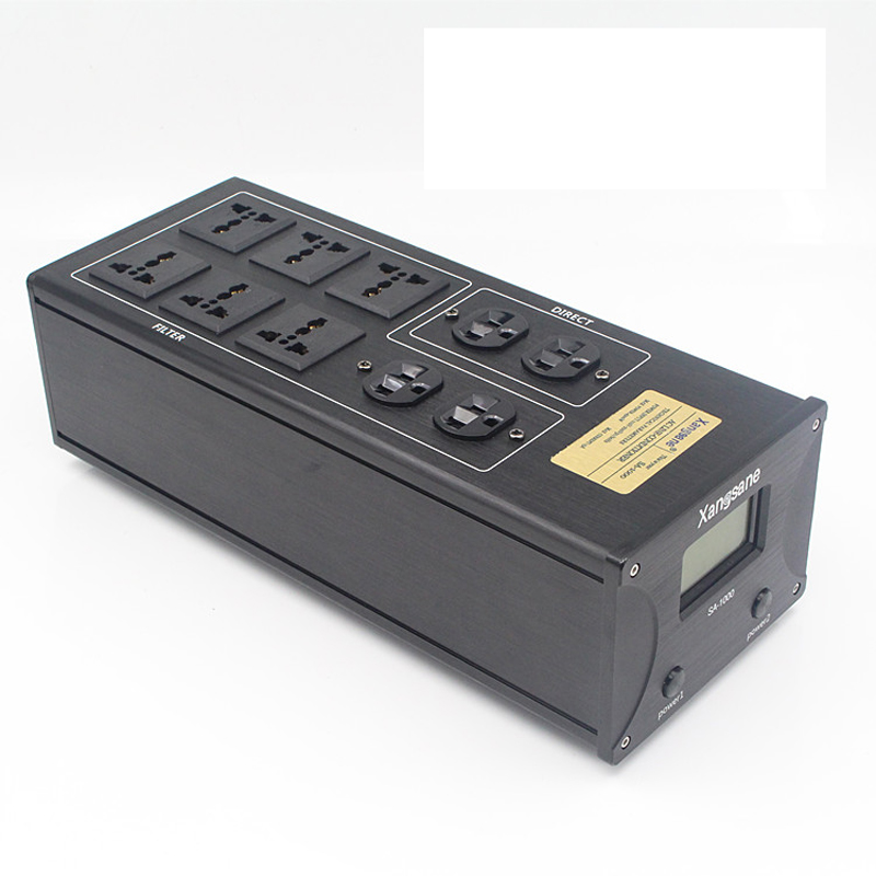 Hi End Hifi Audio 10ways Schuko US AU Outlets Noise Filter AC Power Conditioner Audiophile Power