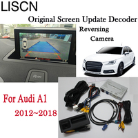 Rear View Camera Interface Adapter Connect Original Screen Monitor For Audi A1 2012~2018 2015 MMI Decoder License Plat Camera