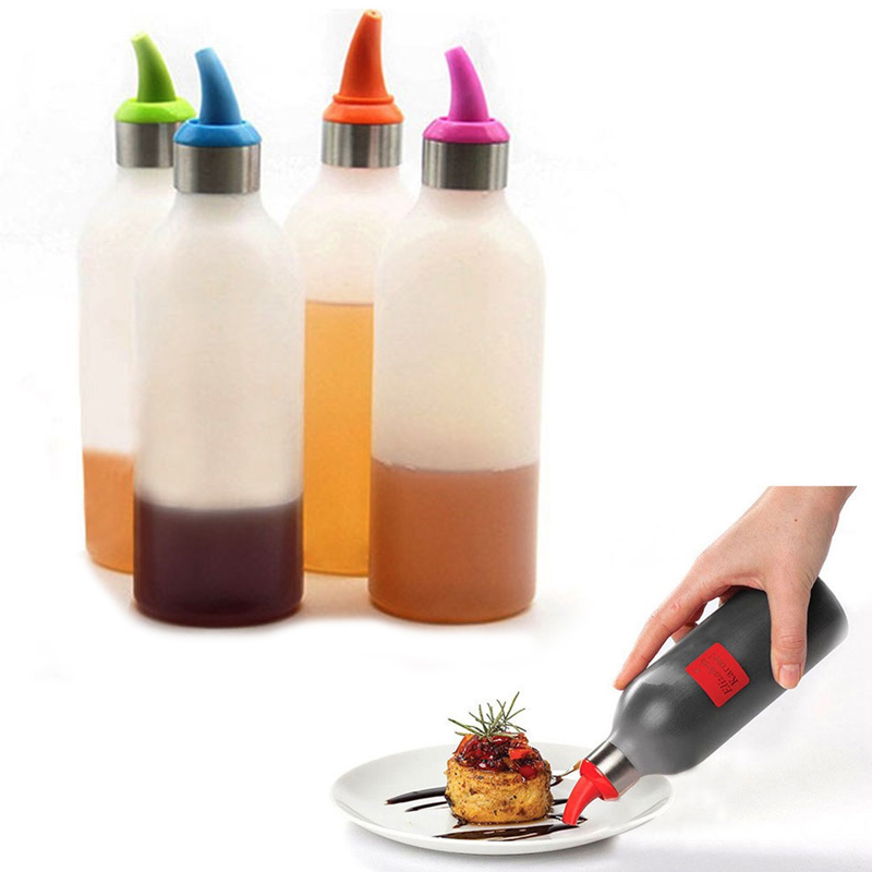 Demana Jam Squeeze Bottle Cooking Salad Sauce Tank Seasoning Bottle Soy Sauce Pot Condiment Squeeze Bottles