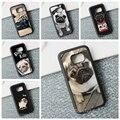 Envío gratis divertido diseño pug dog case cubierta del teléfono para samsung galaxy s3 s4 s5 s6 s7 s7 s6 edge borde nota 3 nota 4 nota 5 # HY94