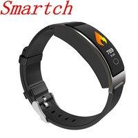 Smartch جديد CK11C الذكية معصمه الذكية الفرقة ضغط الدم مراقب معدل ضربات القلب ساعة معصم أسورة ذكية المقتفي-في الأساور الذكية من الأجهزة الإلكترونية الاستهلاكية على