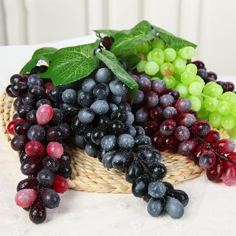 1 Pcs Artificial Fruit Grapes Mini Simulation Fruit Plastic Fake Decorative Fruit Lifelike Home Wedding Party Garden Decor