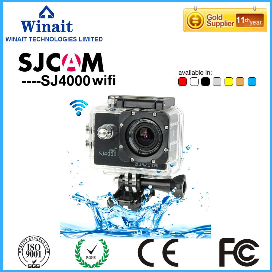 2017 New Ultra HD SJCAM S4000 4K Sport WiFi Action camera 1.5 Inch Screen Waterproof Camera Sports Camcorder DVR 170D Lens h9 ultra hd 4k wifi 2 0 inch bicycle snorkeling surfing helmet sport camera video camcorder waterproof 30 meters under water