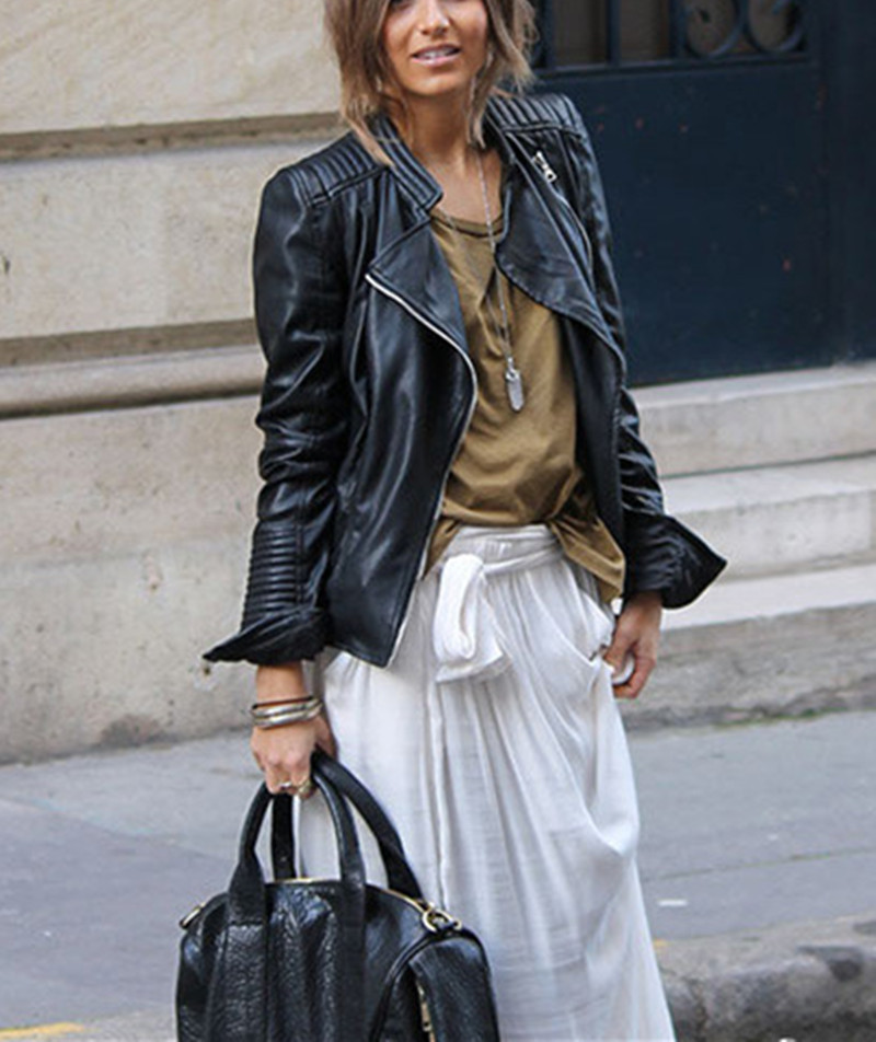 Black Leather Bomber Jacket Ladies