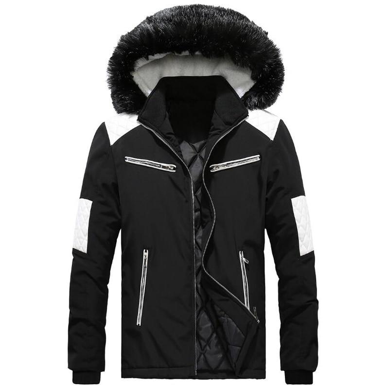 predominante varios colores comprar original €33.64 42% de DESCUENTO Parka de invierno para hombre con Cuello de piel  cremallera ropa de abrigo 2018 chaqueta de invierno chaqueta invierno  hombre ...