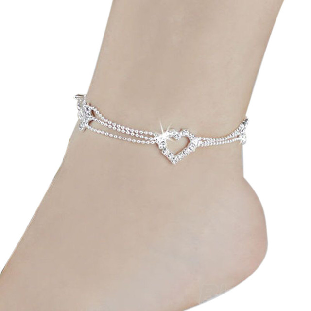 Heart Female Crochet Sandals Anklets3