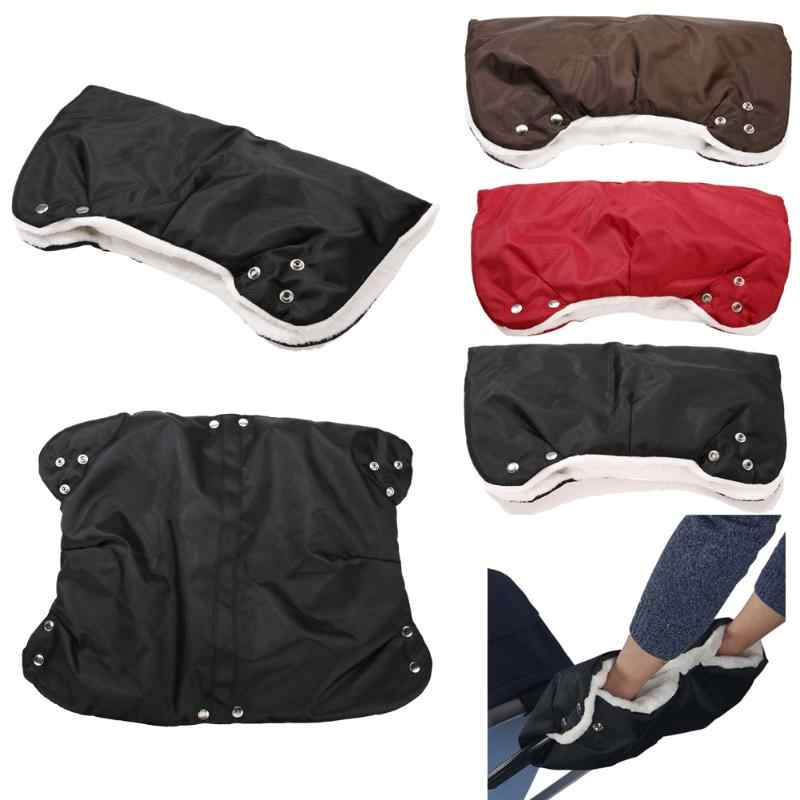 Kids Winter Thick Warm Stroller Gloves Pushchair Hand Muff Waterproof Pram Accessory Mitten Baby Buggy Clutch Cart Hand Gloves