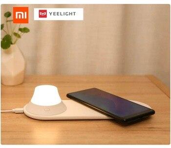 Chargeur sans fil Xiaomi Yeelight avec LED veilleuse Attraction magnétique charge rapide pour iphone téléphones Samsung Huawei Xiaomi