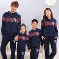 Толстовки активным семья одежда / мать и дочь отец сына одежда семья одежда соответствующие семейный комплект одежды TT02