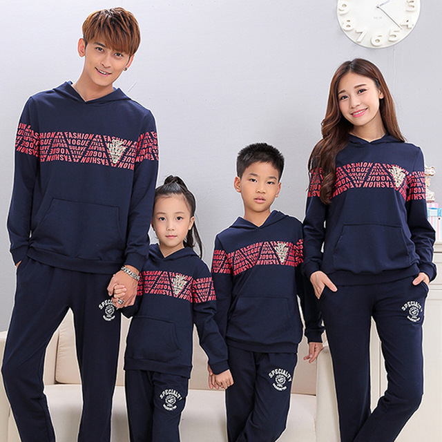 96f0668d4c7b Hoodies Tops Active Family Clothing Mom Mother and Daughter Father Son Clothes  Family Clothing Matching