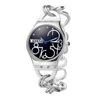 Disney femme montres dames en acier inoxydable Bracelet horloge noir blanc rose nombre de luxe diamant top marque 30 m étanche