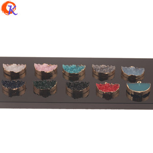Image 4 - Cordial Design 50Pcs 18*23MM Jewelry Accessories/Resin Charms/Semicircle Shape/DIY Earrings Making/Hand Made/Earring Findings