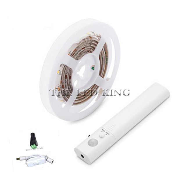 1-10 M Kabinet Lampu LED Gerak Diaktifkan Muda 5 V PIR MOTION SENSOR LED Strip SMD 2835 lemari Pakaian Lampu Tape PC TV Backlight
