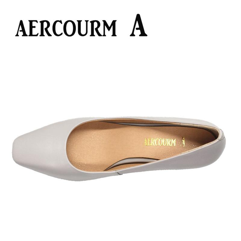Aercourm un 2017 zapatos de piel de vaca de las mujeres del otoño - Zapatos de mujer - foto 6