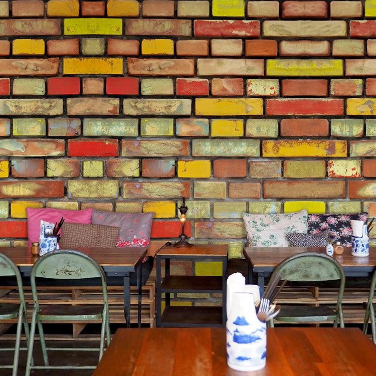 ⑧Retro de madera de grano color ladrillo restaurante café sofá TV ...