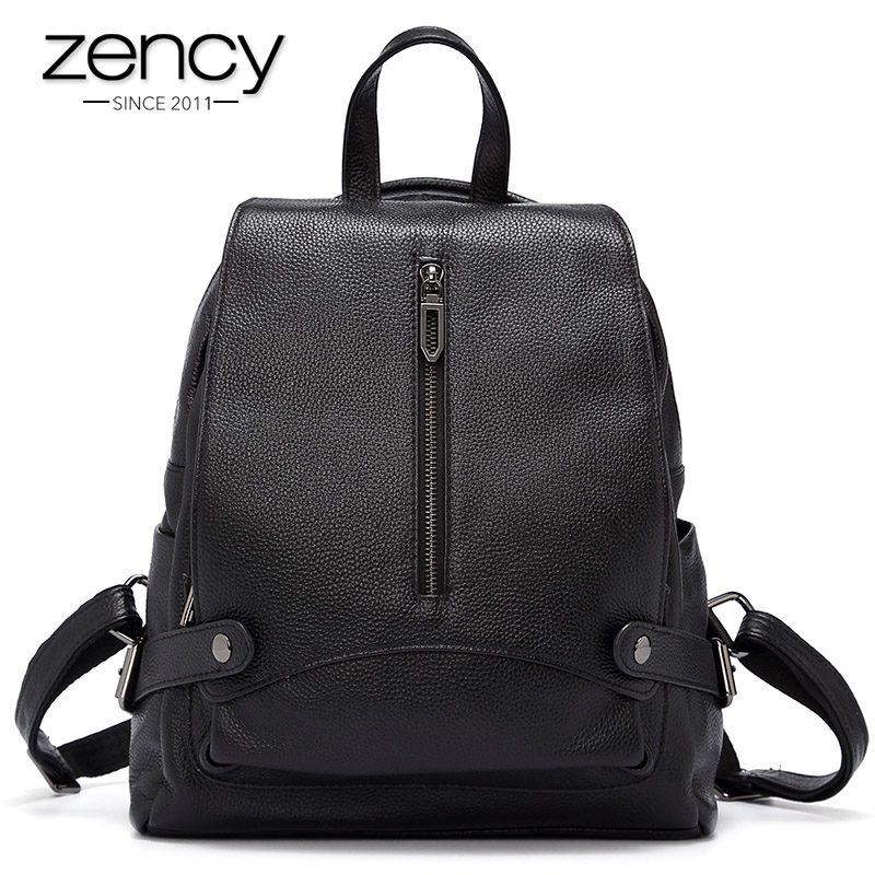 Hot Sale Zency Brand Fashion Designer Women Backpack Travel Bags Large Capacity Schoolbag For Girls 100% Cowhide Natrual Leather аккумулятор canyon cne cpb130 13000mah white cne cpb130w