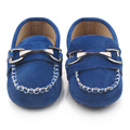 New Casual Nubuck Leather Mocassins Baby Solid Metal Decoration Baby Boy Mocassins Casual Shoes 0-15 Months