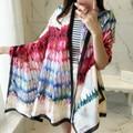 women's summer beach scarf feather design imitation silk scarves shawls sunscreen cape scarfs long muffler 180*90 echarpe femme