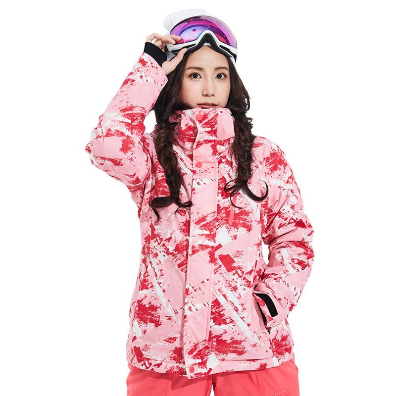 Combinaison de Ski pour femme pantalon Snowboard ensembles Sports de plein air chaud coupe-vent imperméable séchage rapide respirant hiver femme veste de Ski