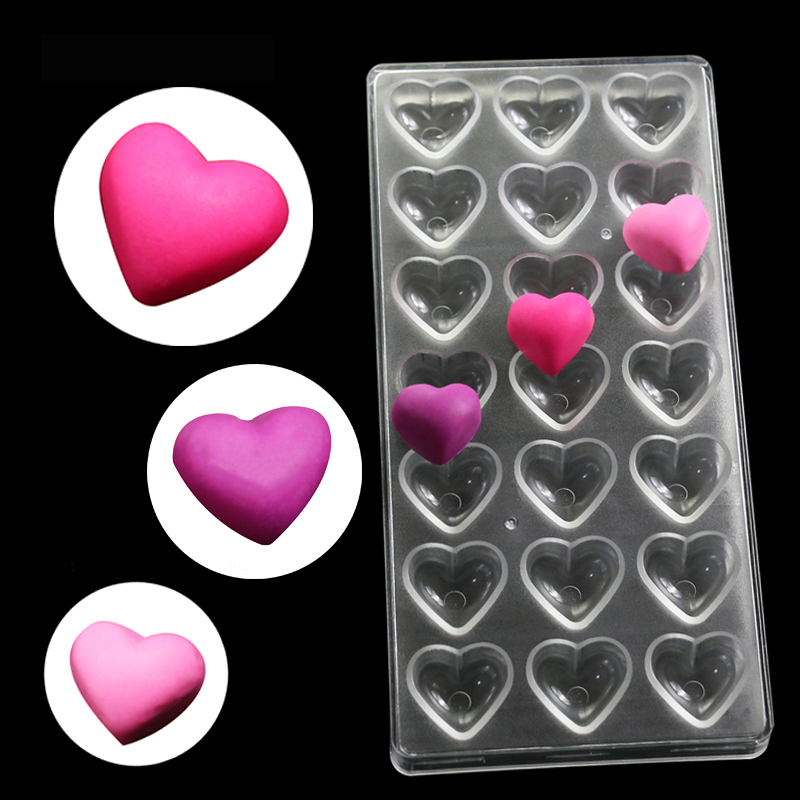 Hearts Chocolate Candy Moulding Pladdy Puding Mould Fondant Cake - Kuhinja, jedilnica in bar