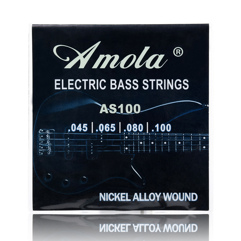 Bass Guitar Strings Amola AS100 Electric 045-100 Series Strings Core Nickle Alloy Wound Music Wire Set